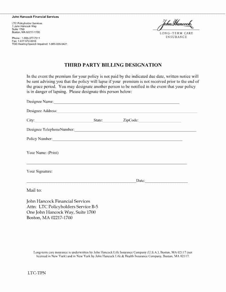 John Hancock third party notification form