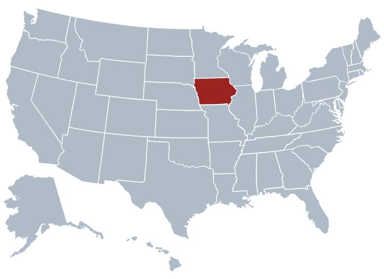 Iowa outline image