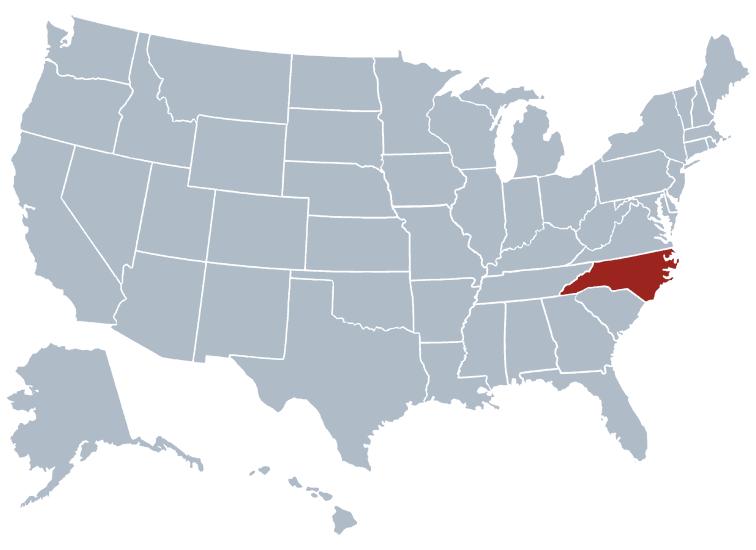 North Carolina outline image