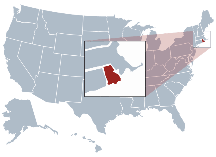 Rhode Island outline image