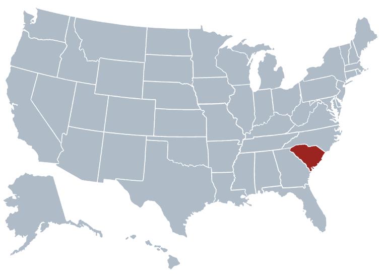 South Carolina outline image