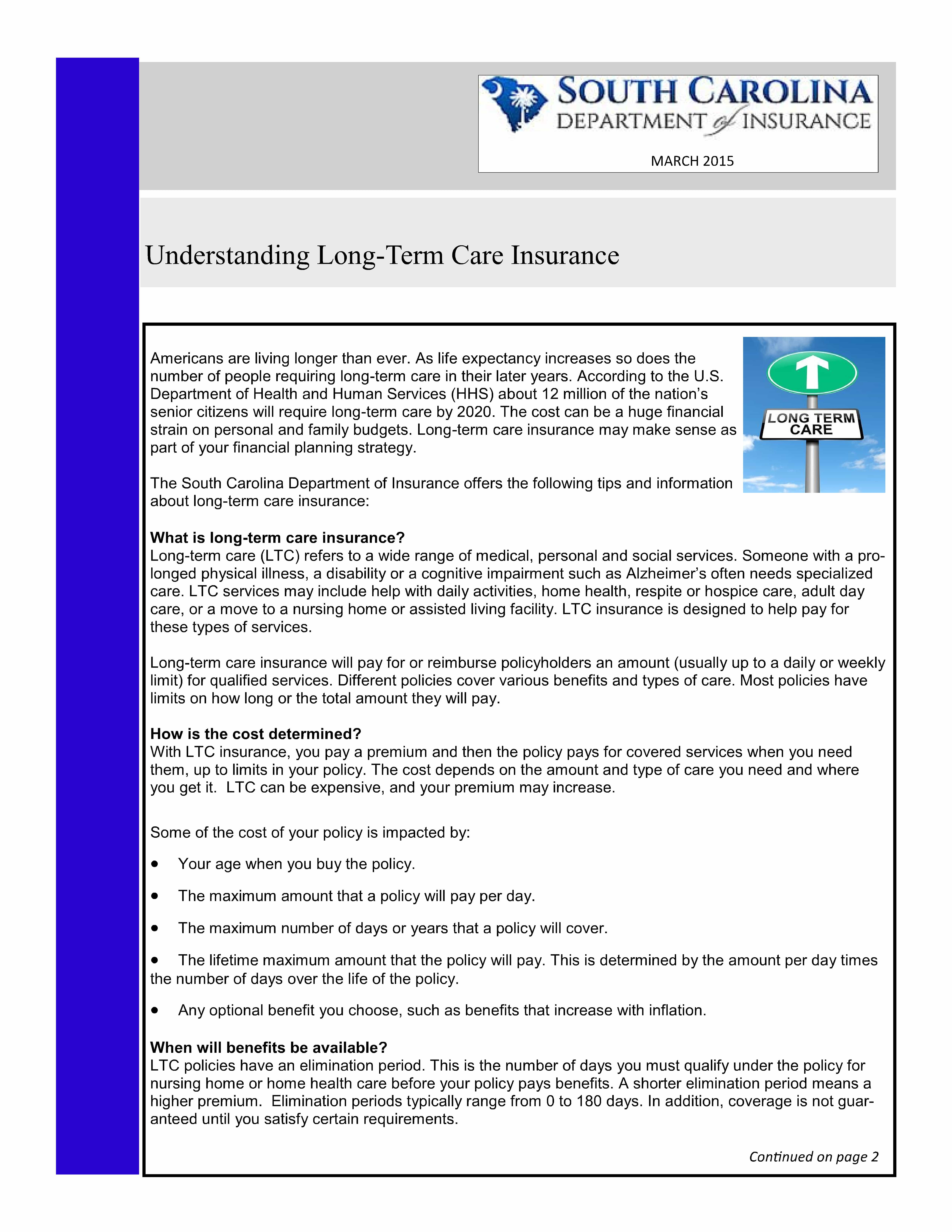 Long Term Care Insurance Maryland